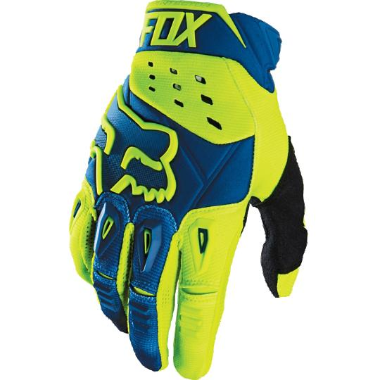 Мотоперчатки Fox Pawtector Race Glove Blue/Yellow