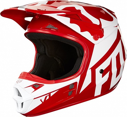 Мотошлем Fox V1 Race Helmet Red