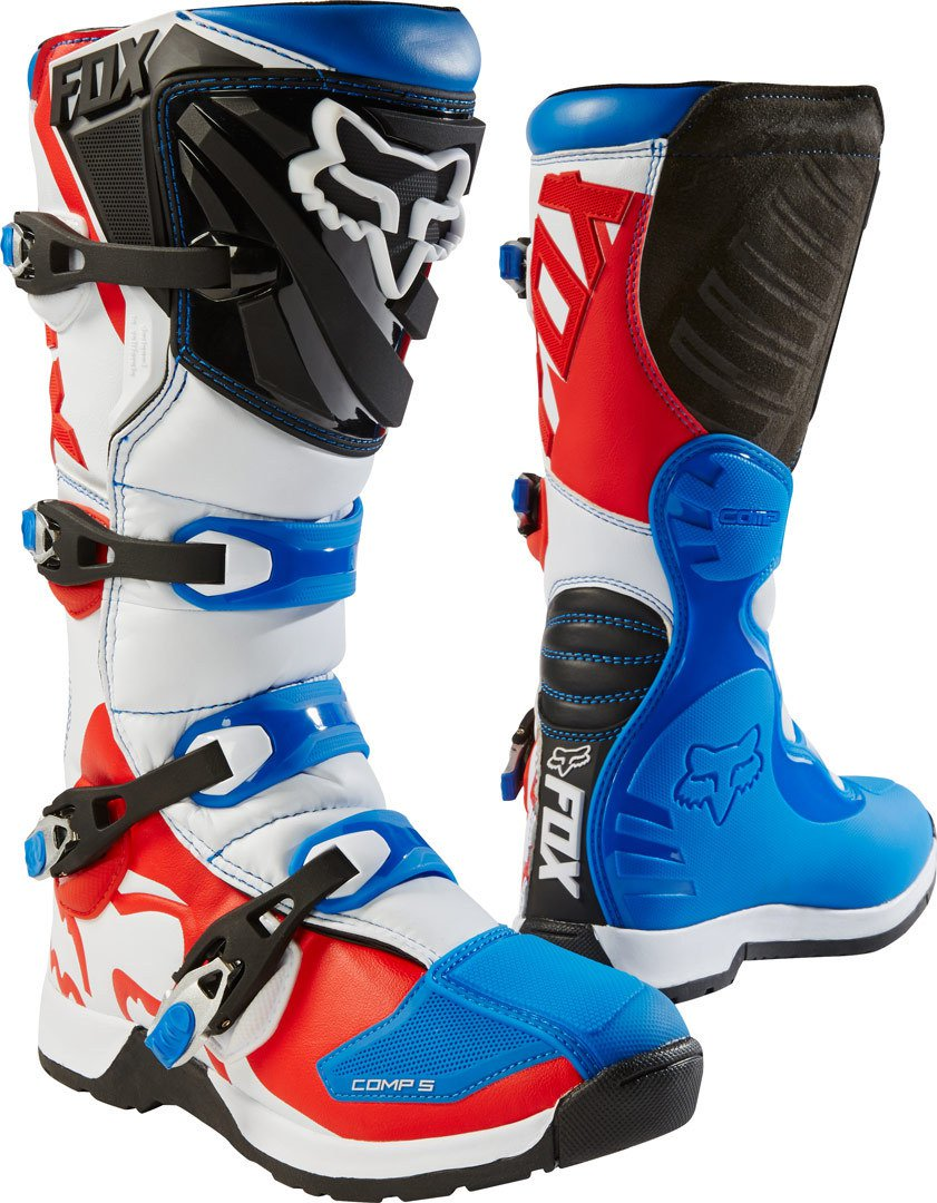 Мотоботы Fox Comp 5 Boot Blue/Red